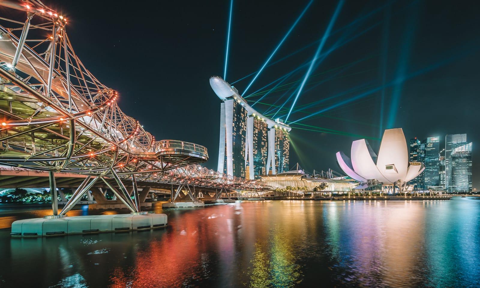 Spectra show tại Marina Bay Sand